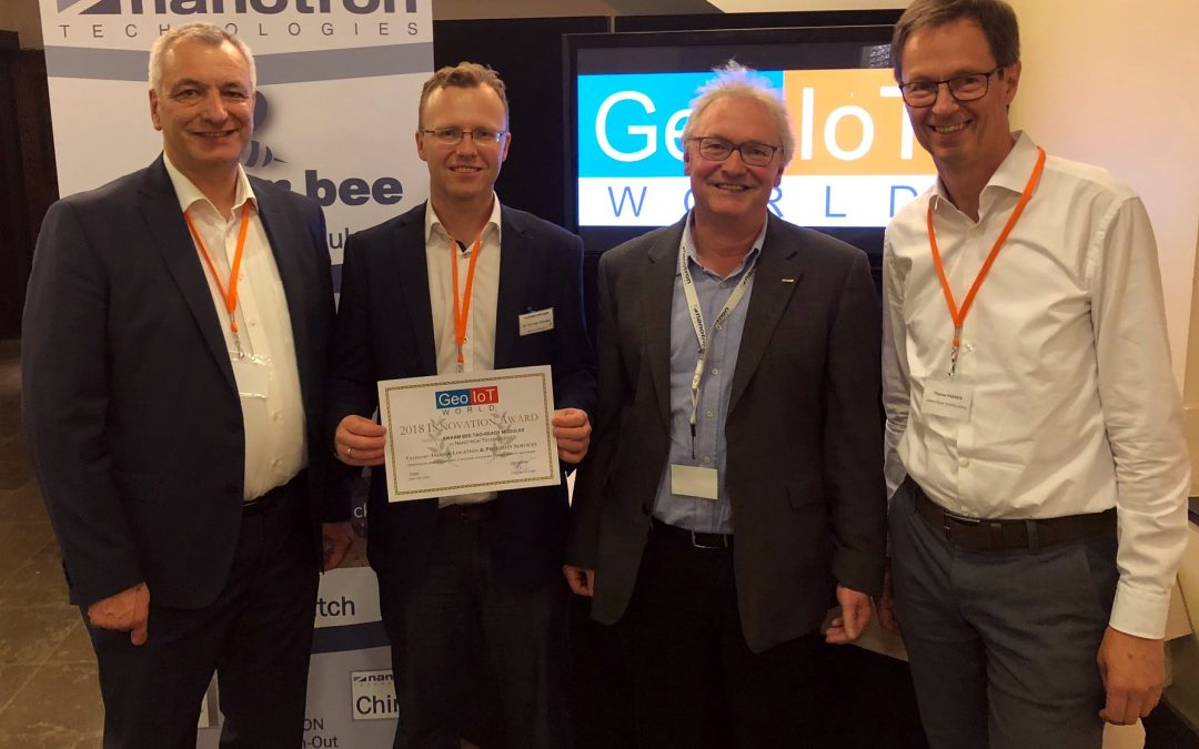 Nanotron wins Geo IOT World award for indoor location and proximity services